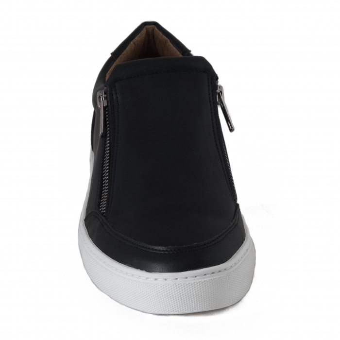 Man vegan shoes zipper