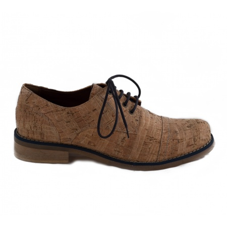 Diana Cork Blue Woman Vegan Lace-up Shoes