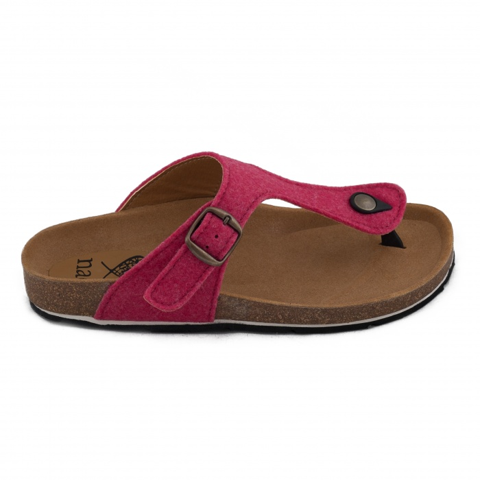 Kos Pink Woman vegan sandal recycled plastic bottles