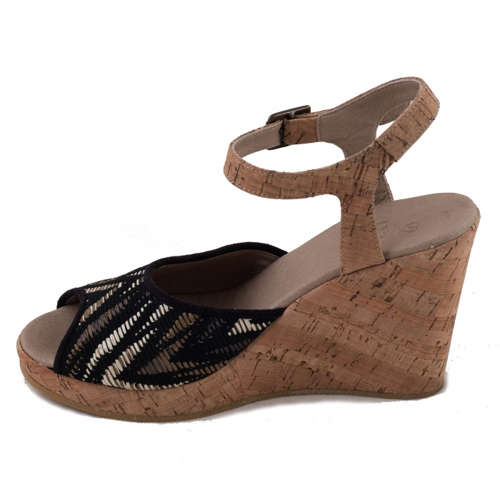 Maika Woman vegan ankle strap wedge sandal cork