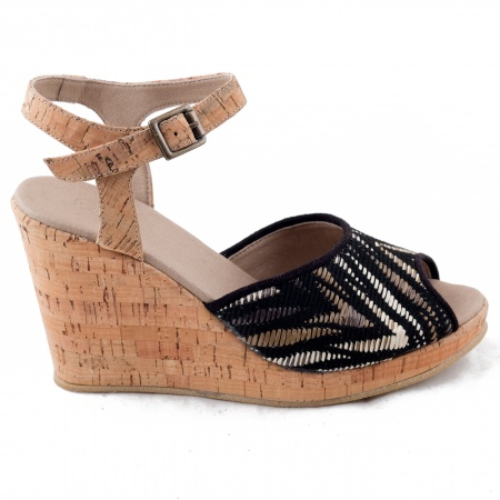Woman vegan wedge sandal