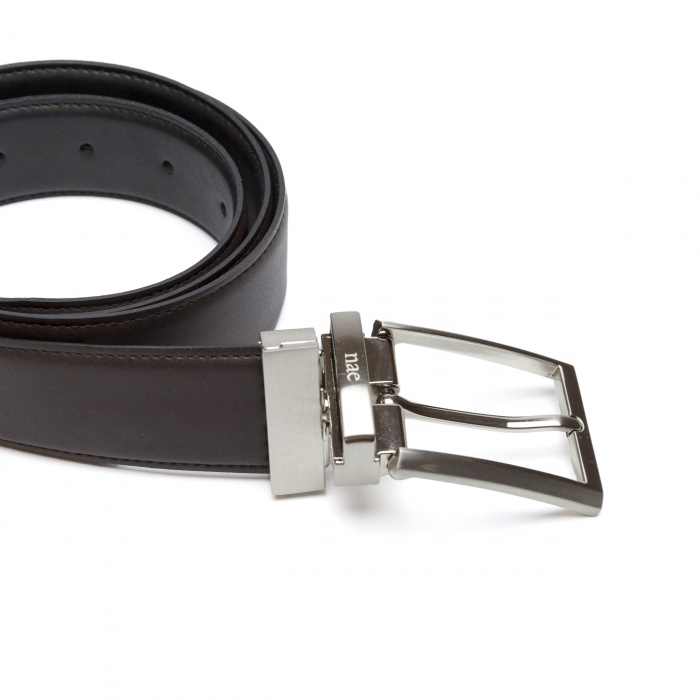 Man vegan reversible belt