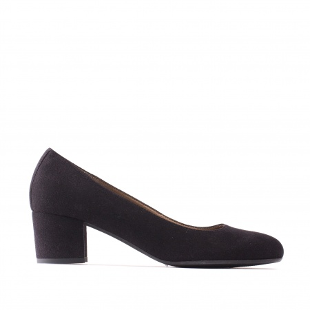 Lina Vegan block heel shoes woman black