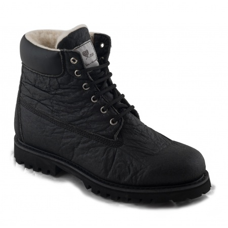 vegan lace-up boots man woman pineapple piñatex