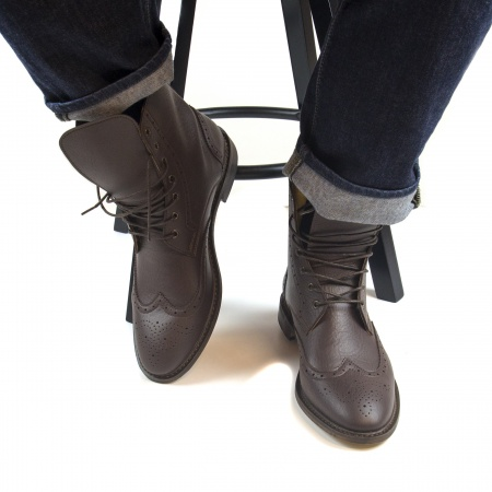 Alex Brown man vegan boots