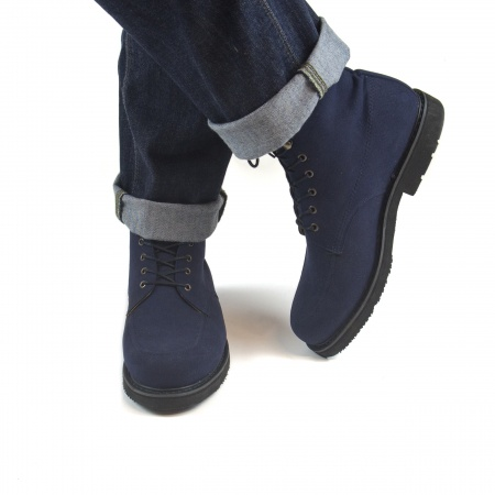 André Blue man vegan boots