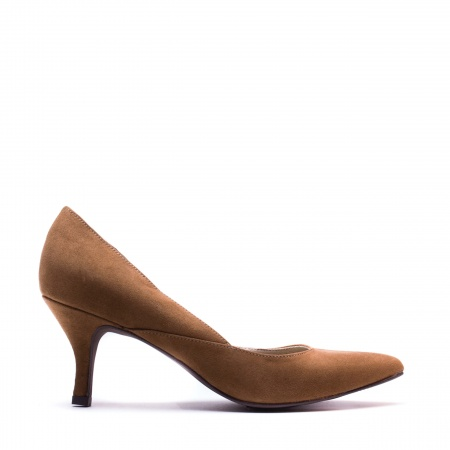 Nina Brown woman vegan dorsay shoe
