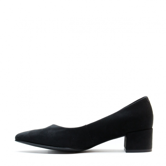 Malu Black  woman Vegan block heel shoes point toe