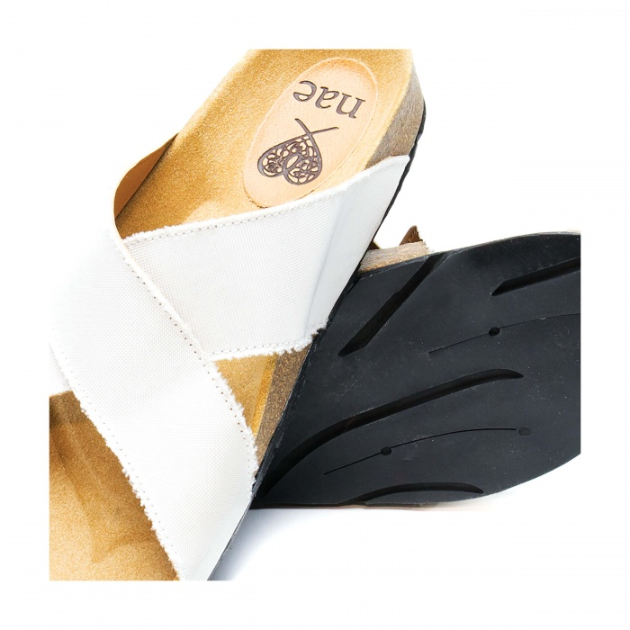 Re Car unisex flat vegan sandal recycled  airbag