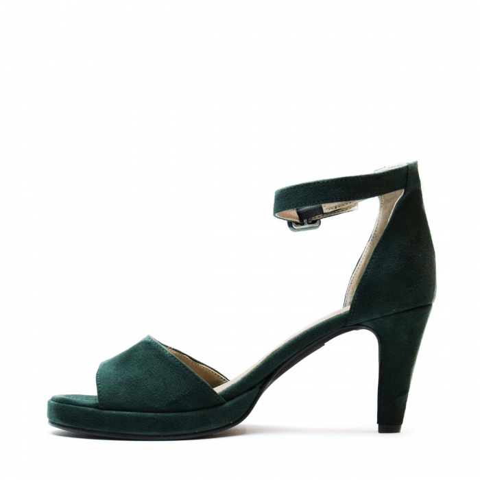 Regina Green woman vegan ankle strap sandal