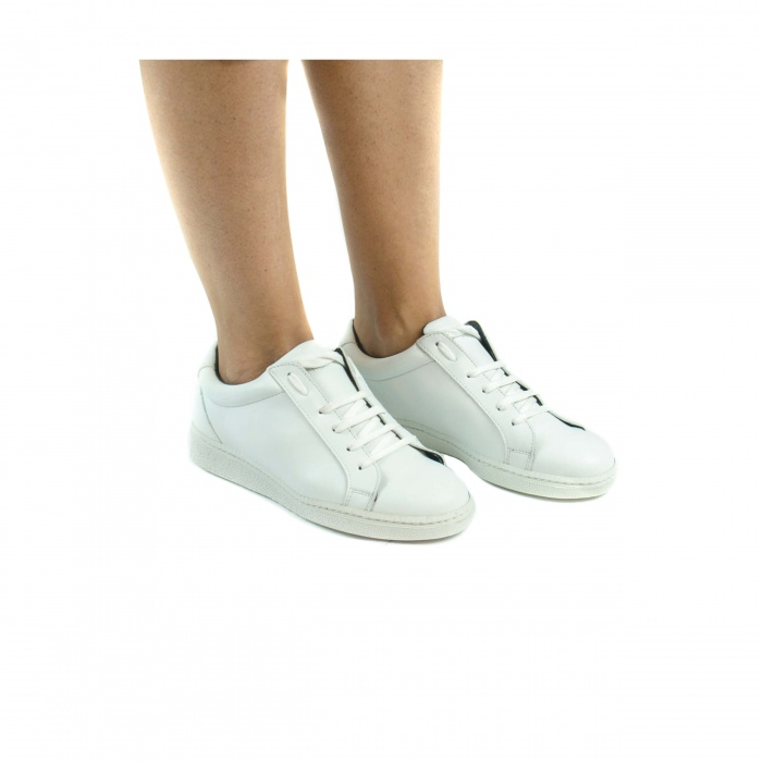 Basic Micro White unisex vegan sneakers