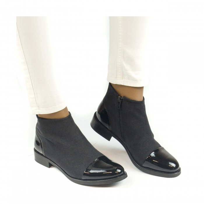 Lorena Black woman vegan ankle boots