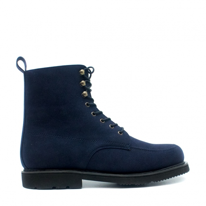 Andre Blue man vegan short boots laces
