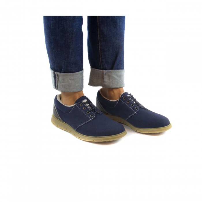Marjuk Blue man vegan shoes