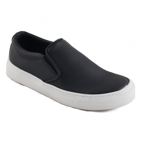 Bare Micro vegan flat shoes man woman black microfiber