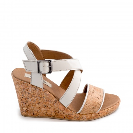Cleo Woman vegan ankle strap wedge sandal cork