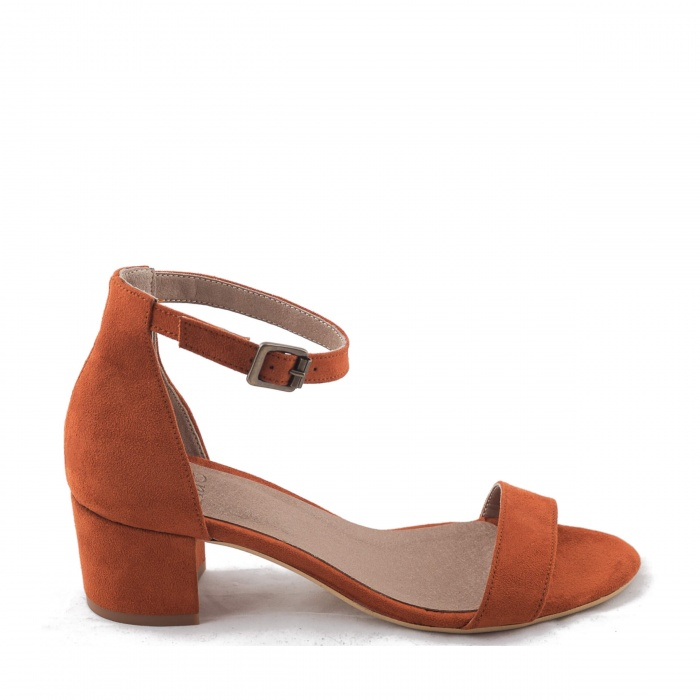 Irene Orange Woman vegan ankle strap sandal