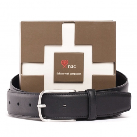 reus black belt unisex silver buckle vegan