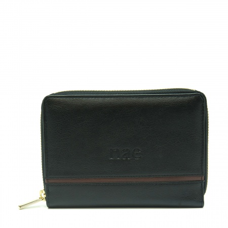 eva black wallet woman classic card slots pocket vegan